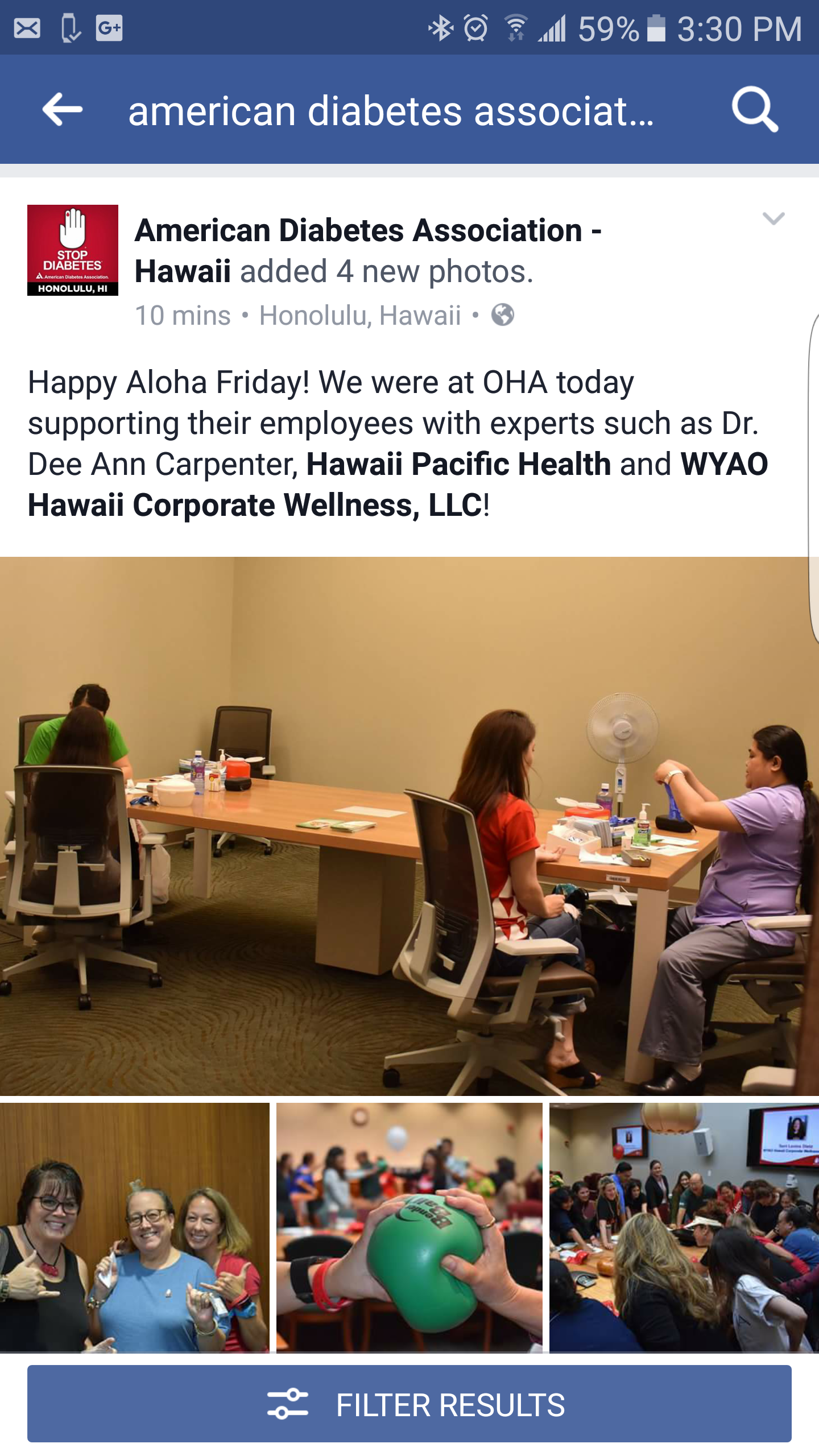 Collaboration with American Diabetes Association Hawaii